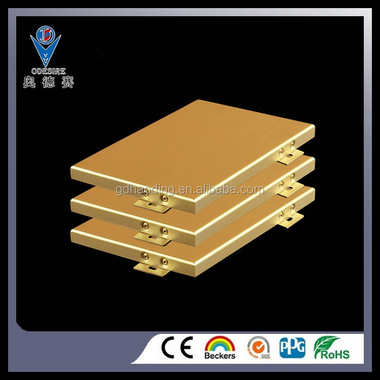 2017 new design aluminum Veneer aluminum solid panel board single panel on alibaba for ceiling tiles