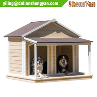2 doors wood pet house, dog house