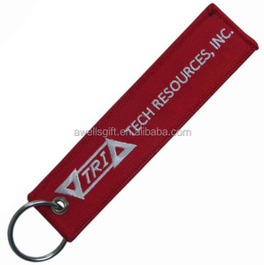 embroidery beautiful aviation tag / keyring / keychain
