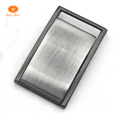 BenBao wholesale types of stainless steel belt buckles large blank brushed flip italy buckle