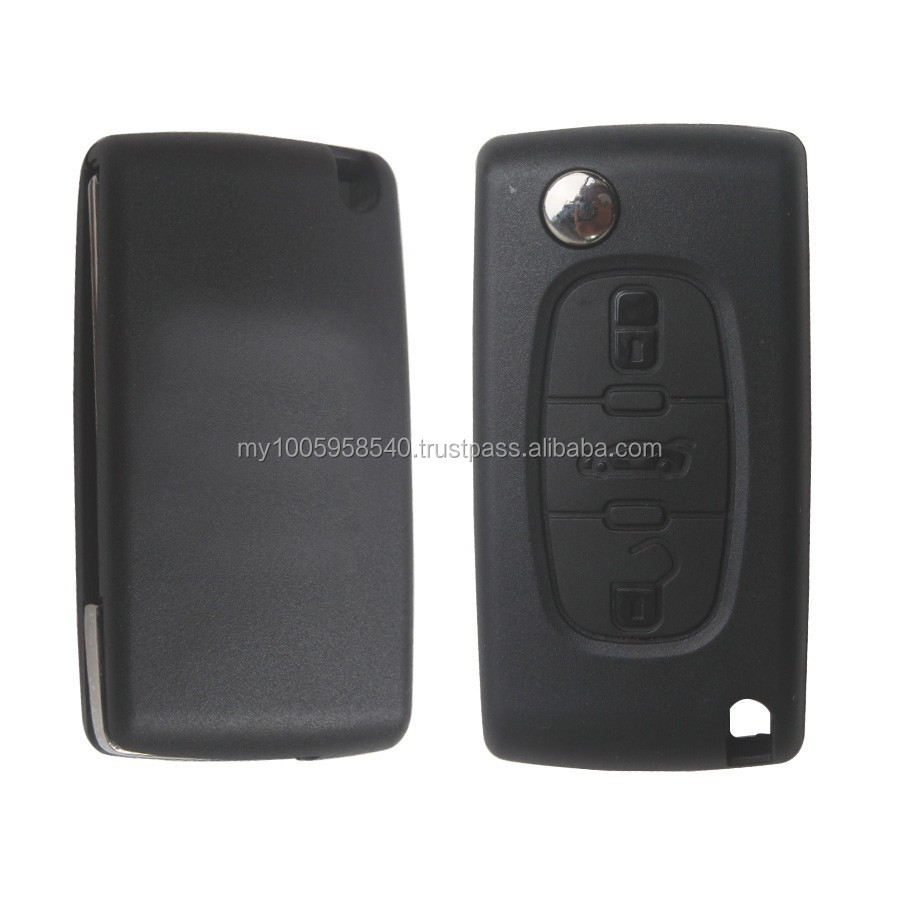 High quality For Citroen Remote Key 3 Button 433MHZ( With Groove)