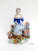 European Figurine Design Porcelain Doll, Graceful Ceramic Figurine The Lady of Camelias