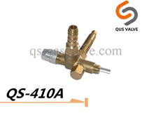 QS 410A one way brass safety gas heater valve for barbecue