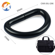 Bag Accessories Iron D Shape Black Metal Rings