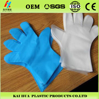 Disposable haircut Polyethylene/ transparent Gloves