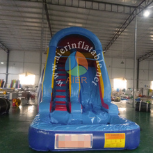 Cheap small commercial inflatable waterslide water slide with pool for kids and adults