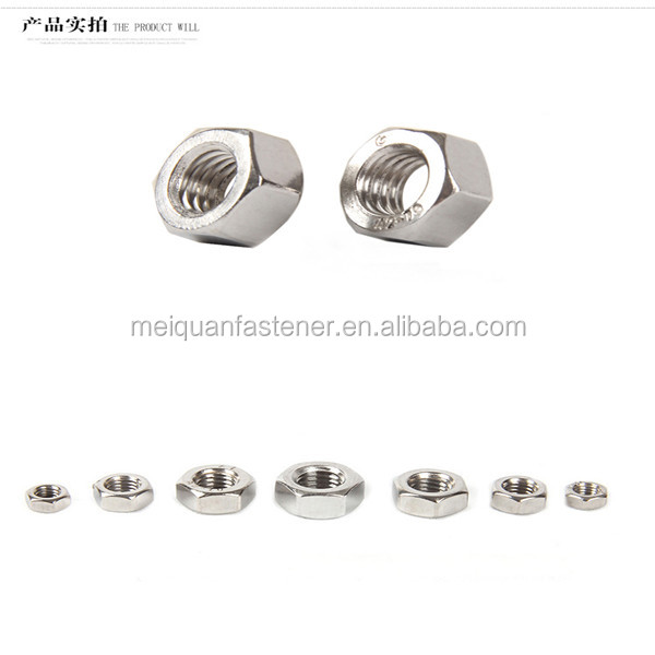 Fast Delivery Stainless Steel 304 DIN934 M4 M6 M8 Hexagon Nut