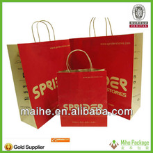 Kraft paper bags for clothes