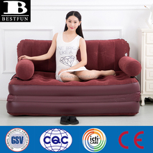 Top quality smart inflatable folding air lounge sofa bed multi-purpose portable reclining lightweigh sofa bed