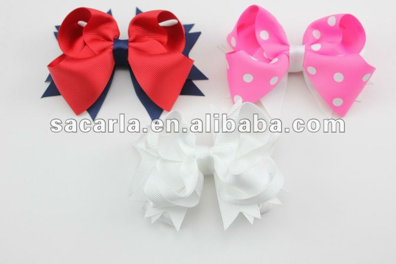 solid color fashion flower hair ornament