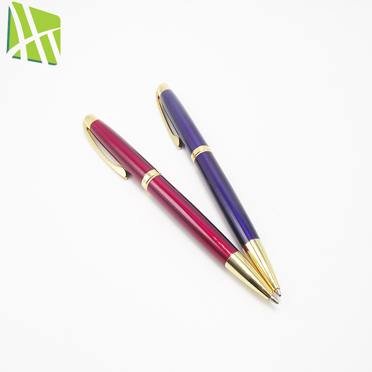 High Quality Custom Color Copper Metal Promotional Ball Pen With Logo