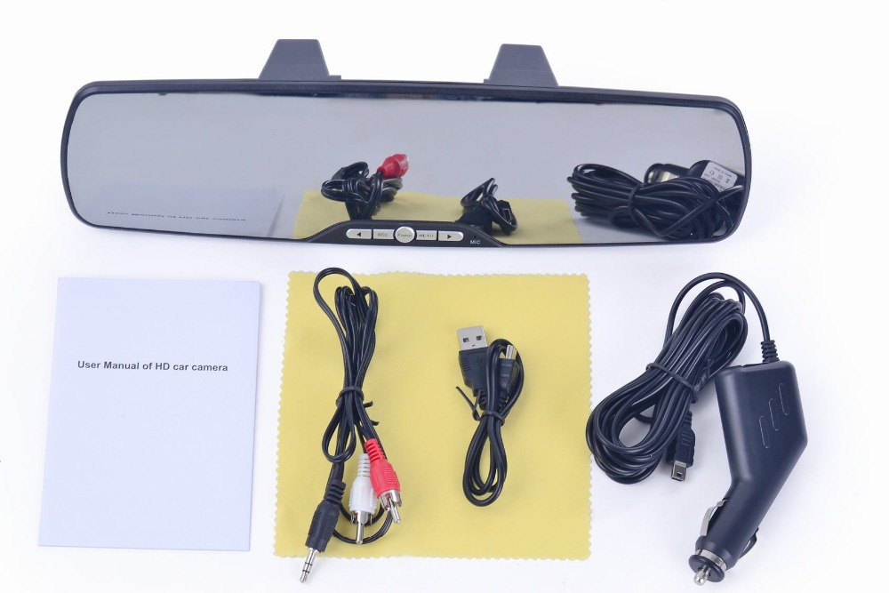 Full HD 1080P Reverse Camera 1080P GPS Car DVR Recorder Car Rearview Mirror Monitor