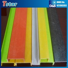High strength FRP C channel, U shaped plastic profile
