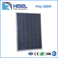 High Efficiency 150w 200w 250W Poly Solar Panel Manufacturer in China Hisel Power