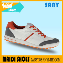 Hot sale flexible light weight rubber outsole ladies and men's golf shoes