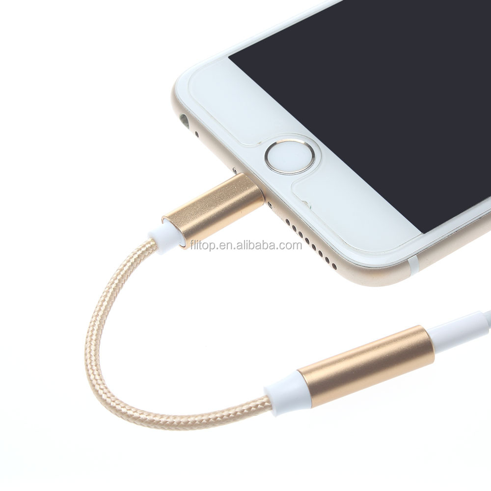 Headphone Headset Earphone Converter Adapter for iPhone 7 with charging