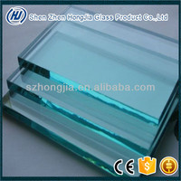 12mm thick clear toughened glass