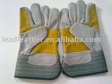 grey cow split leather working gloves