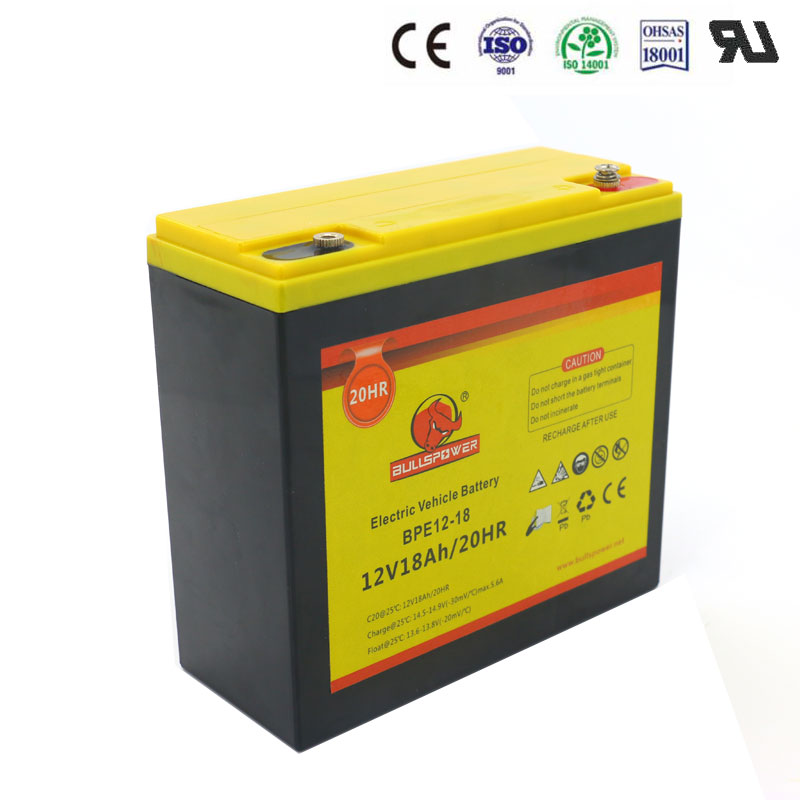 Long design life hybrid gel battery 12v 18ah for electric bike with low price