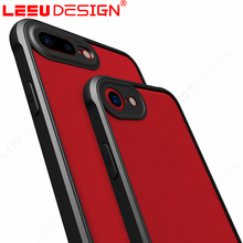 LEEU DESIGN new patent high quality with front speaker hole free sample tpu frame acrylic phone case for iphone 7 7 plus