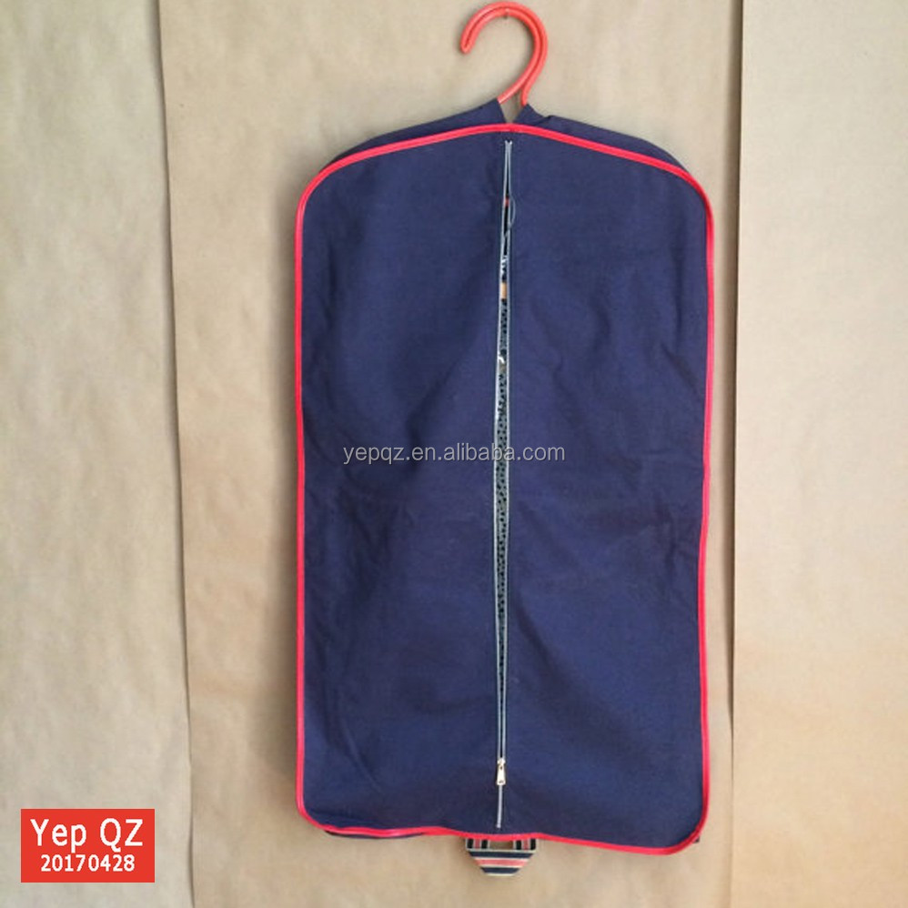 Top quality China supplier breathable wholesale purple blank folding custom best garment bag