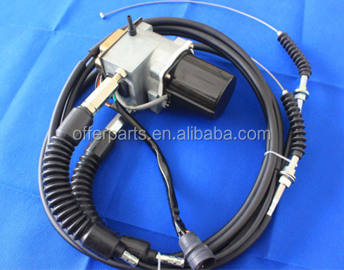 Throttle motor with 3m long double cables,247-5227,7Y3914 for Caterpilar E320V1,E320V2 and other machinery