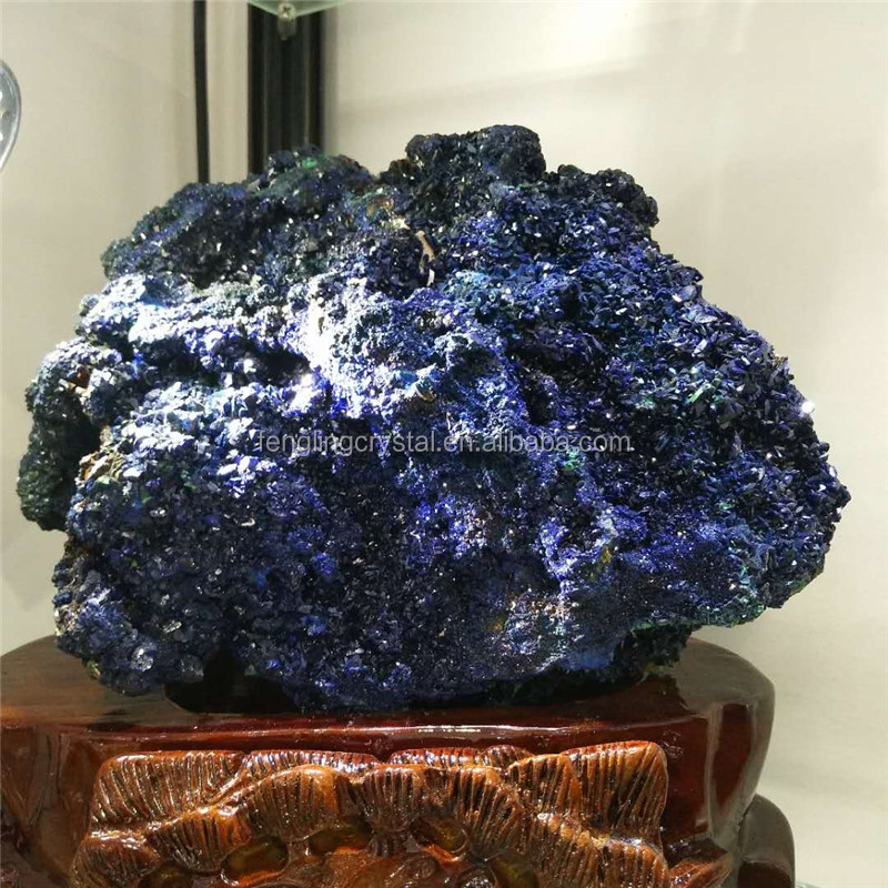 wholesale Natural high quality laos Azurite Rough Crystal Minerals for decoration or collect