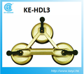 KE-HDL3 Hot sale factory price 3 cup Hot Sale Glass Suction Plate for glass