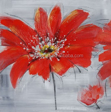 Wholesale Decoration Red Flower Oil Painting Picture