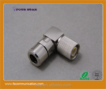 1.6/5.6 Connector Male Right Angle Clamp For RG59 Cable