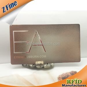 Cheap Stainless Steel Business Cards Embossing Metal Invitation Cards