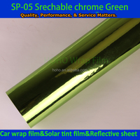 1.52*20M Super Quality Stretchable Car Wrap Vinyl Chrome with Air Channle