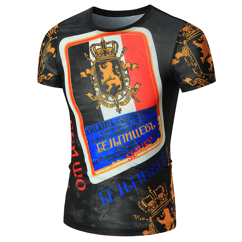 Europe style plus size custom printing cheap sublimation dry fit t shirt men