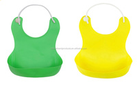 Low Price Washable Silicone Baby Bib With Food Catcher