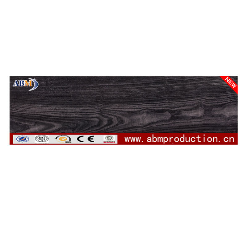 150*600 3D Floor Tiles Imitating Wood Black Color Design