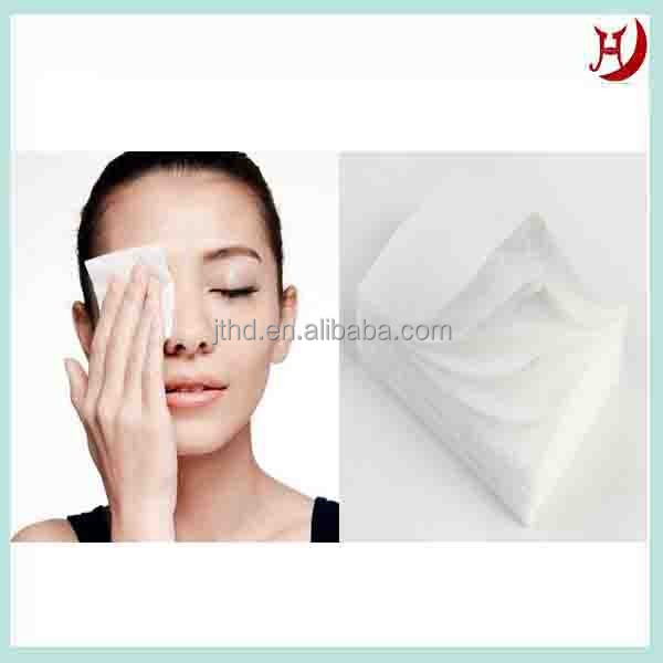 Spunlace nonwoven cosmetic make-up cotton pad
