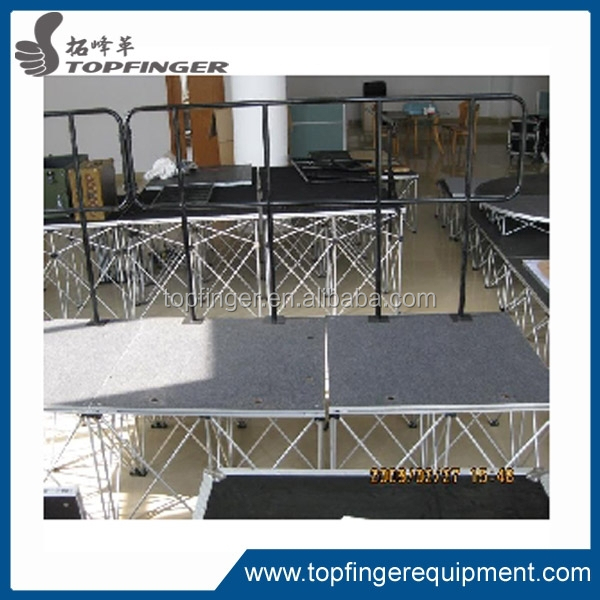 besting selling Creative popular TFR easy install stage, portable outdoor stage, adjustable cute stage for party ,party, event