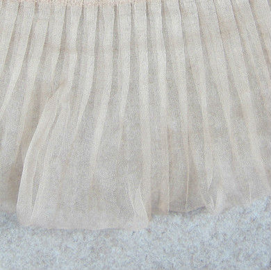 Bridal Dress Making Material,Pleated Organza Silk Fabric