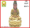 Hot sale high quality model craft clinquant buddha sculpture for home decoration