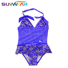 Skirt style quick dry little girl swimming suit one piece young girl swimwear baby sizes swimsuits