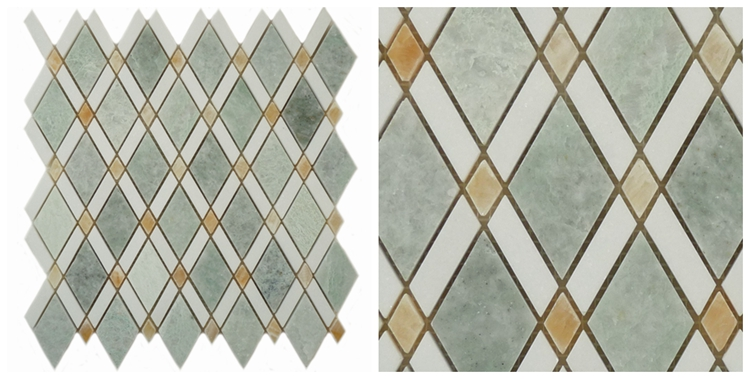 Decorstone24 Marble Mosaic Factory Directly Green Stone Tile Backsplash With Good Quality