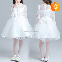 13 Year Old Girls White Party Princess Lace Sequined Birthday Wedding Dress