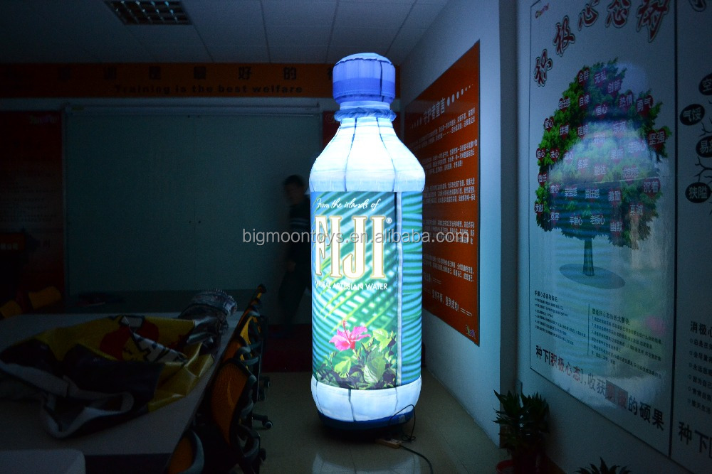 Customized Giant Inflatable Bottle with led light For Advertising