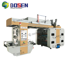 High Speed Computer Control Paper Roller Bag Flexographic Printing Machine 4 Color