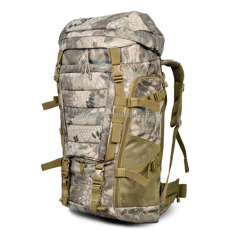 OEM Large Capacity Tactical Nylon Hiking Backpack Bag 70L