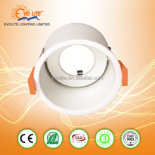 QUALITY 90mm METAL WHITE CHROME MR16 RECESSED DOWNLIGHT USE WITH GU10 LED FITTING