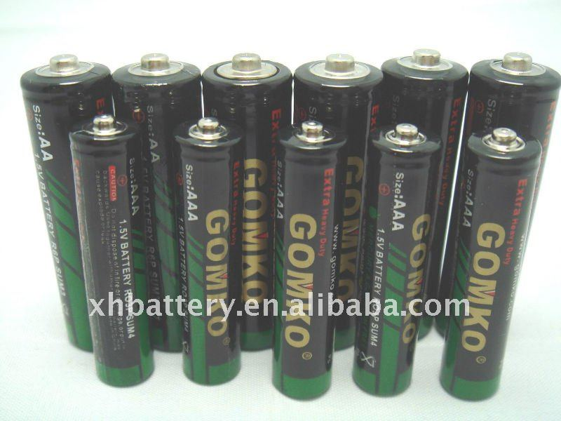 ZnMn battery R6,AA size, 1.5v, dry battery um-3