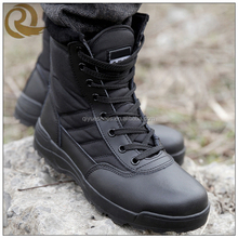 China factory wholesale genuine leather military desert jungle boots army boots black