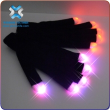 2016 LED Finger Flashing Gloves/Light Up Glow Stick Gloves,led gloves wholesale china