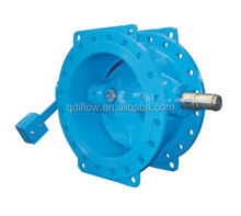 Inclined check valve with counter weight